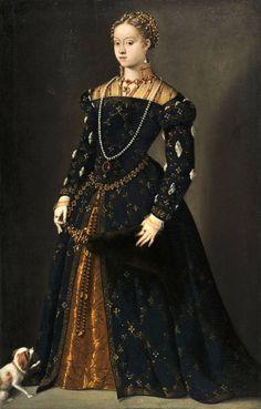 Madame de Pompadour (Catherine of Austria, Queen of Poland and Grand. Renaissance Mode, Costume Renaissance, Renaissance Portraits, Renaissance Clothing, Renaissance Fashion, Italian Renaissance, 16th Century Clothing, 16th Century Fashion, 17th Century