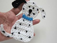 1pc 4.75 Crochet DALMATIAN DOG Applique