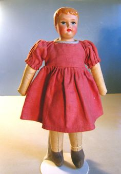 Finnish girl doll in red