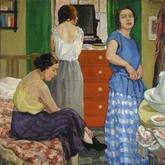 Mabel Frances Layng (English artist, 1881–1937) Girls Dressing ,1920s.