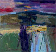 Iden Artist: Goodwood Downland Dusk 2008 Oil on Board Estate of Peter Iden Abstract Landscape Painting, Abstract Painters, Abstract Oil, Landscape Art, Landscape Paintings, Oil Paintings, Art And Illustration, Minimal Art, Painting Inspiration