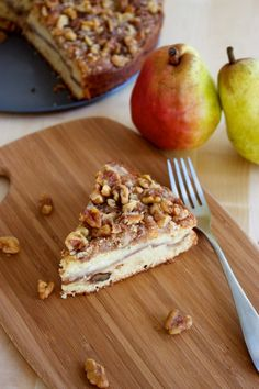 Pear & Walnut Sour Cream Coffee Cake - I can't make this soon enough.