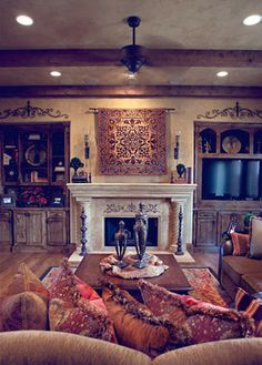 Family Rooms that are warm and inviting #Home #Tuscan #Design - Find more Ideas on www.IrvineHomeBlog.com/HomeDecor  Irvine, California - Christina Khandan ༺༺ ℭƘ ༻༻