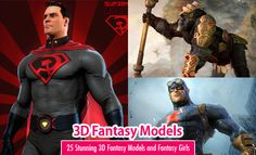25 Stunning 3D Fantasy Models and Game Character Designs. Read full article: http://webneel.com/3d-fantasy-game-models-characters | more http://webneel.com/3d-characters | Follow us www.pinterest.com/webneel
