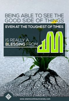"""The Prophet (pbuh) said that the believer is a positive thinker and not a negative thinker. To further emphasize that quality, he quoted Allah as saying, """"I am as my servant thinks of Me."""" (Sahih Bukhari & Sahih Muslim) We should have good thoughts about Allah, as well as about whatever happens in life according to the permission of Allah. Dr. Bilal Philips"""