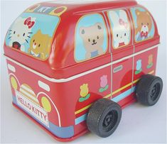 1980s Hello Kitty school bus box, $200 | 22 Vintage Sanrio Products That Will Make You Rich
