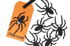 Super cute Black widow spiders  for your Halloween trick or treat gifts by TodoPapel, $4.65