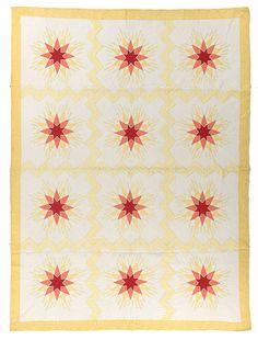 Mountain Star  Mountain Mist Pattern N, copyright 1932 Designed by Margaret Hays Maker Unknown Circa 1932