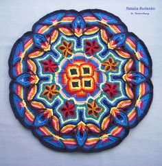 crochet mandala rug - Google Search