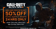 For 24 hours (Jan - Rare Supply Drops 100 CoD Points Before Running, Black Ops 3, Call Of Duty Black, Cod, The 100, Cod Fish, Atlantic Cod