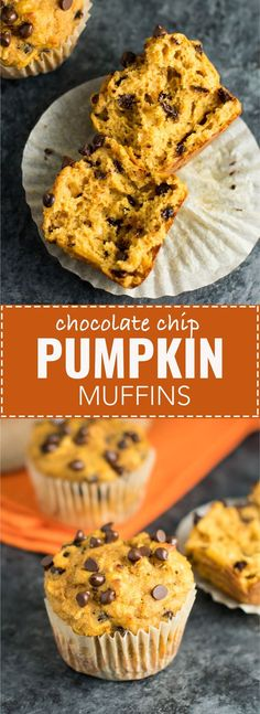 Skinny Pumpkin Chocolate Chip Muffins   Posted by: DebbieNet.com