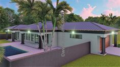 3 Bedroom House Plan BLA 074S Round House Plans, My House Plans, My Building, Building Plans, Home Design Plans, Plan Design, Architect Fees, House Plans South Africa, House Plans 3 Bedroom