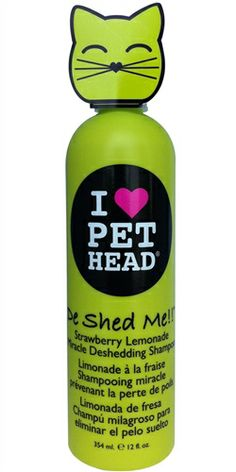 Pet Head De Shed Me Miracle Deshedding Cat Rinse A must have for pets that shed! Our miracle rinse with organic coconut oil helps remove excess hair and leaves the coat so amazingly soft and silky it's crazy! Cat Shampoo, Cat Tree House, Tree Houses, Dog Branding, Buy Pets, Cat Hair, Strawberry Lemonade, Cat Supplies, Buy A Cat