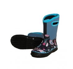 Hatley Paisley Birds Pull-On All Weather Splash Boots. Wellies rated to -20°c