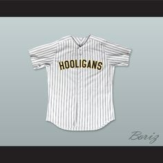 "Bruno Mars 24K Hooligans White Pinstriped Baseball Jersey BET Awards. STITCH SEWN GRAPHICS  CUSTOM BACK NAME CUSTOM BACK NUMBER ALL SIZES AVAILABLE SHIPPING TIME 3-5 WEEKS WITH ONLINE TRACKING NUMBER Be sure to compare your measurements with a jersey that already fits you. Please consider ordering a larger size, if you prefer a loose fit.  HOW TO CALCULATE CHEST SIZE: Width of your Chest plus Width of your Back plus 4 to 6 inches to account for space for a loose fit. Example: 18"" wide chest…"