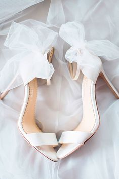 Hottest Wedding Shoes Trends 2018 For Brides ❤️ classic white ankle strap wi. - - Hottest Wedding Shoes Trends 2018 For Brides ❤️ classic white ankle strap with bows wedding shoes trends 2018 bella belle elise ❤️ See more: www. Trends 2018, 2018 Wedding Trends, Enchanted Bridal, Tulle Bows, Bridal Heels, Bridal Shoes Ivory, Beautiful Sandals, Bride Shoes, Wedding Shoes Bride