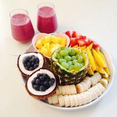 Image via We Heart It https://weheartit.com/entry/164548879 #breakfast #drink #food #FRUiTS #healthy #morning #yummy #kiiwyyo