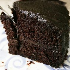 Wicked Chocolate Cake: cup butter-soft 1 cup sugar -- add 3 eggs -- cup milk 1 tsp vanilla -- 1 cups flour 1 tsp baking soda tsp salt --- add 1 pkg oz) BAKERS Unsweetened Chocolate, melted with cup sugar cup water, hot -- bake 350 33 min. Brownie Desserts, Oreo Dessert, Mini Desserts, Just Desserts, Delicious Desserts, Yummy Food, Delicious Cupcakes, Baking Recipes, Cake Recipes