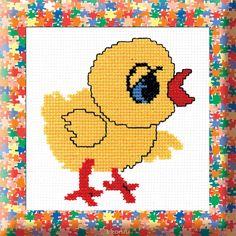 Набор для вышивания крестом Цыпленок, 30 х 25 см