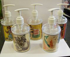 pin up girl soap dispenser retro vintage rockabilly kitsch decor. $10,95, via Etsy.