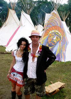 Mikey & Daughter Daisy Glastonbury Festival