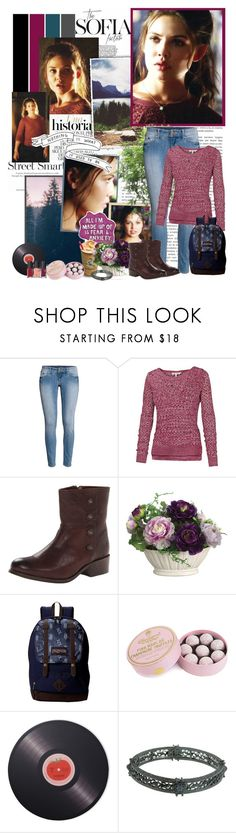 """Davina Claire - 2.01"" by noseinanovel ❤ liked on Polyvore featuring Sharpie, H&M, Fat Face, Frye, Allstate Floral, JanSport, Charbonnel et Walker, Joseph Joseph, 1928 and Lancôme"
