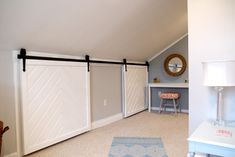 From Eye Sore to Eye Candy with Custom-Made Barn Doors   #barndoors #renovadesign #atticbedrooms #closetdoors #smallspaces #DIYbarndoors #DIY #howtobarndoors #barnclosetdoors