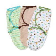 Summer Infant SwaddleMe Adjustable Infant Wrap, 3-Pack, Mom & Baby