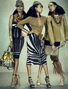 Anais Mali, Jasmine Tookes, Jourdan Dunn by Emma Summerton for W Magazine March 2012 5