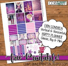 Free Printable Purple Winter Planner Stickers from CBD Planner Prints