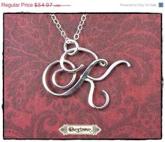 BLACK FRIDAY SALE Personalized Initial Pendant by SilverTrove, $43.98
