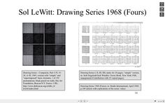 Sol LeWitt: Drawing Series 1968 (Fours).