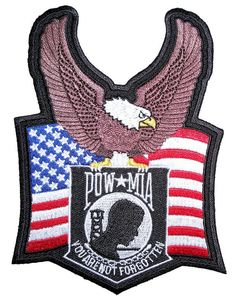 LEFT HAND GUN AMERICAN FLAG MILITARY PATRIOTIC BIKER IRON ON PATCH
