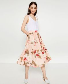 FLORAL PRINT SKIRT from Zara