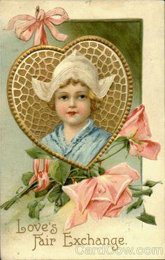 Love's Fair Exchange Ellen Clapsaddle Valentines Day