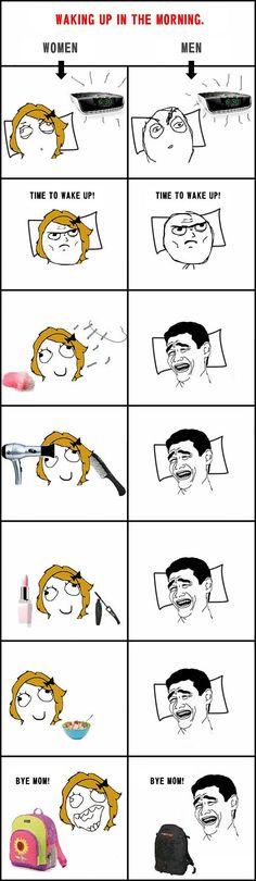 funny-comic-men-vs-women-waking-up