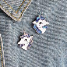 Cute Cartoon Unicorn Brooches Enamel Pins For Women Badge Collar Pin Brooch Bag Jean Hat Accessories Cute Jewelry Purple Unicorn, Unicorn Head, Cute Jewelry, Jewelry Gifts, Jewelry Accessories, Metal Animal, Pins On Denim Jacket, Bff, Cartoon Unicorn