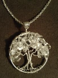 Winter Ice Storm Tree of Life Hand Wire Wrapped Pendant Tree Of Life Jewelry, Tree Of Life Pendant, Ice Storm, Wire Trees, Wire Wrapped Pendant, Suncatchers, Natural Gemstones, Wire Wrapping, Special Gifts