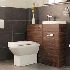 Aspen Compact Walnut 410 Combination Pack Better Bathroomssmall Bathroomsensuite Bathroomscloakroom