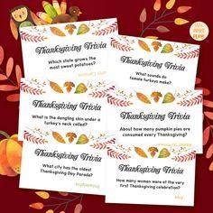 Thanksgiving Trivia Game  21 Trivia Questions  Printable   Etsy