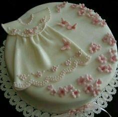 Baby shower christening cake
