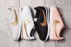 "The Nike Cortez ""Glitter"" Pack Drops With A Shining Golden Swoosh"