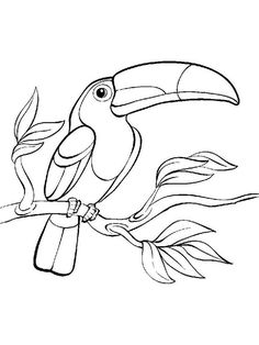 Bird drawing for kids coloring pages 16 new ideas Bird Drawings, Animal Drawings, Easy Drawings, Glass Painting Patterns, Rock Painting Designs, Bird Embroidery, Embroidery Patterns, Animal Sketches, Drawing Sketches