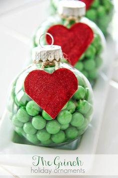 The Grinch Decorations: DIY Holiday Ornaments, a simple gift that kids can make and gift this holiday season!