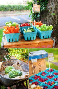 Backyard Idea birthday party | Farmers Market Inspired Backyard BBQ {First ... | Misc party ideas