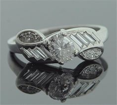 Vintage Diamond Ring - Platinum and Diamond Ring. $4,950.00, via Etsy.
