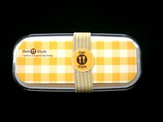 2 Tier Bento Box Yellow Deli Style With Matching Band