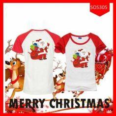 Fashion Baju Couple Santaklaus Merry Christmas Terbaru