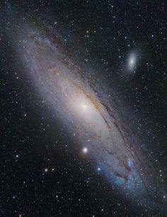 Andromeda Galaxy. It's a long ways from home, but maybe there's a way to get there...