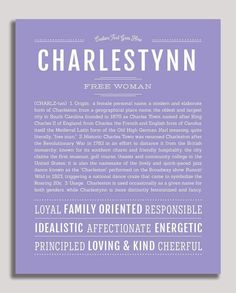 """Personalized Name Prints From A-Z – Tagged """"female"""" – Page 53 – Name Stories Town Names, Classic Names, Descriptive Words, Female Names, Name Art, Place Names, Names With Meaning, Baby Names, Meant To Be"""